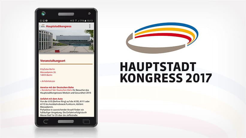 Screenshot der Hauptstadtkongress-App